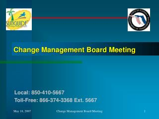 Change Management Board Meeting