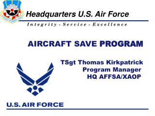 AIRCRAFT SAVE  PROGRAM