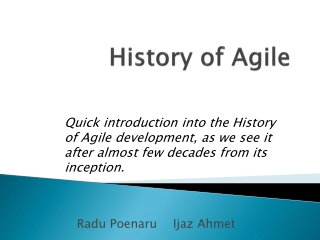 Seminar: Agile Development with Team System