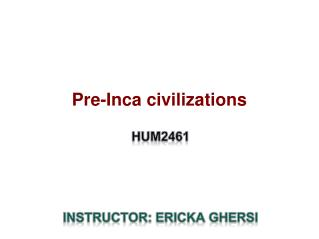 Pre-Inca civilizations