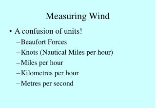 Measuring Wind