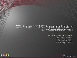 SQL Server 2008 R2 Reporting Services  03   Visualizing Data with Maps