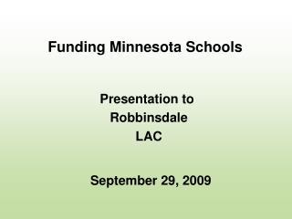 Funding Minnesota Schools