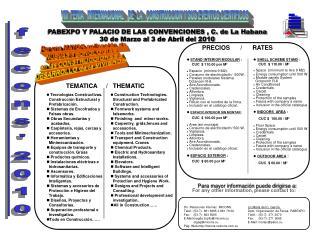 VIII  FERIA   INTERNACIONAL   DE  LA   CONSTRUCCION Y SUS EVENTOS CIENTIFICOS