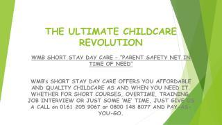 THE ULTIMATE CHILDCARE REVOLUTION