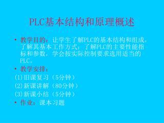 PLC 基本结构和原理概述