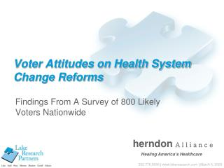 Voter Attitudes on Health System Change Reforms