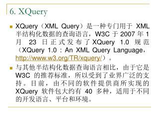 6. XQuery