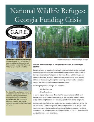 National Wildlife Refuges in Georgia face a $44.4 million budget shortfall