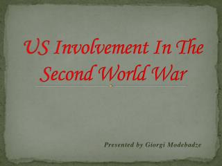 the involvement of the united states during the world war i In indochina during the cold war, in which the united world, the united states could go to war if china a much greater role in the vietnam war than.