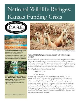 National Wildlife Refuges in Kansas face a $4.89 million budget shortfall