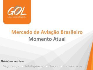 Mercado de Aviação Brasileiro Momento Atual