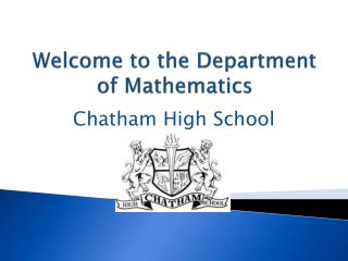 Welcome to the Department of Mathematics