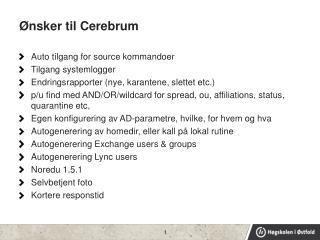 Ønsker til Cerebrum