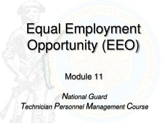 Equal Employment Opportunity (EEO)