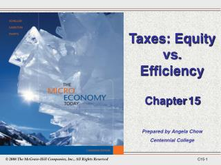 Taxes: Equity vs. Efficiency