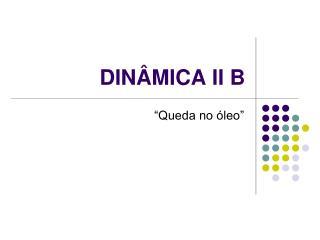 DINÂMICA II B