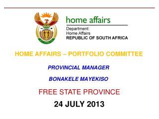 PROVINCIAL MANAGER  BONAKELE MAYEKISO