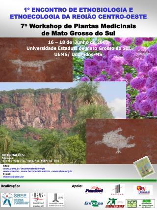 16 � 18 de  Junho de 2003 Universidade Estadual de Mato Grosso do Sul  UEMS/ Dourados-MS