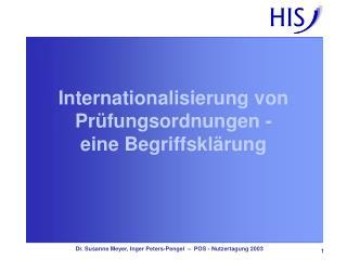 Internationalisierung von Pr�fungsordnungen -  eine Begriffskl�rung