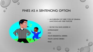 FINES as a sentencing option