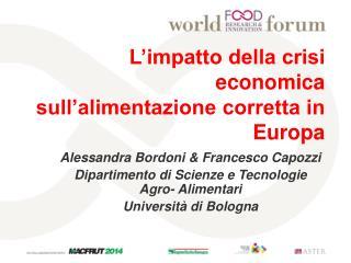 L'impatto della crisi economica sull'alimentazione corretta in Europa