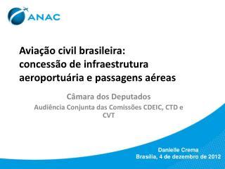 Aviação civil brasileira:  concessão de infraestrutura aeroportuária e passagens aéreas