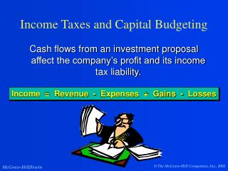 Income Taxes and Capital Budgeting
