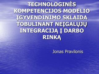 Jonas Pravilonis
