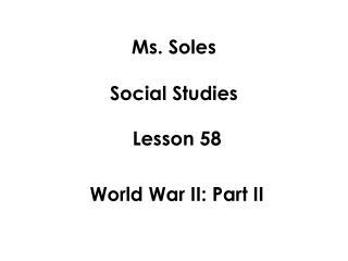 Ms. Soles Social Studies