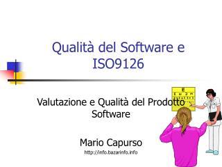 Qualit� del Software e ISO9126