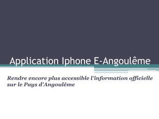 Application Iphone E-Angoulême