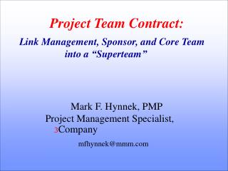 Project Team Contract: