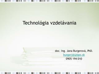 Technol gia vzdel vania