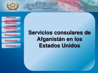 Servicios consulares de Afganistán en los Estados Unidos