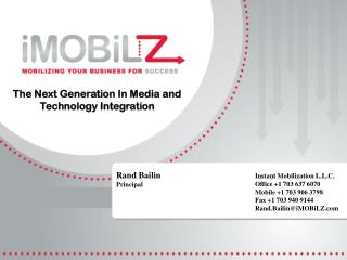 The Next Generation In Media and Technology Integration