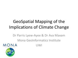 GeoSpatial  Mapping of the Implications of Climate Change