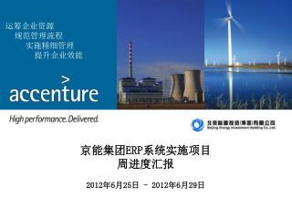 京能集团 ERP 系统实施项目 周进度汇报 2012 年 6 月 25 日  - 2012 年 6 月 29 日