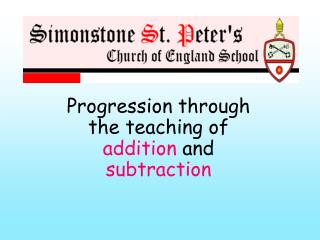 Progression through the teaching of  addition  and  subtraction