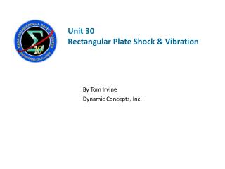 Unit  30 Rectangular Plate Shock & Vibration