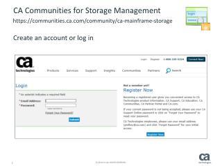 CA Communities for  Storage Management