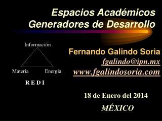 Espacios Académicos Generadores de Desarrollo