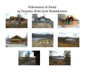Velkommen til Sirdal  og Negotias flotte hytte Raudeknuten