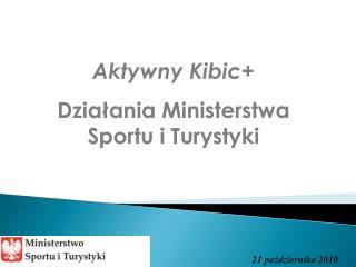Aktywny Kibic Dzialania Ministerstwa Sportu i Turystyki
