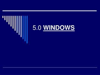 5.0  WINDOWS