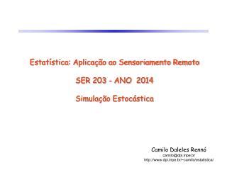 Estatística: Aplicação ao Sensoriamento Remoto SER 203  - ANO  2014 Simulação Estocástica