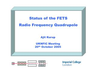 Status of the FETS Radio Frequency Quadrupole