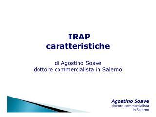 IRAP caratteristiche di Agostino Soave dottore commercialista in Salerno
