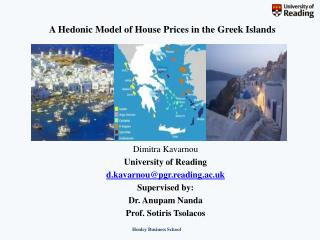 A Hedonic Model of House Prices in the Greek Islands