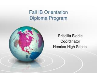 Fall IB Orientation Diploma Program